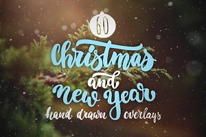 Christmas and New Year overlays set