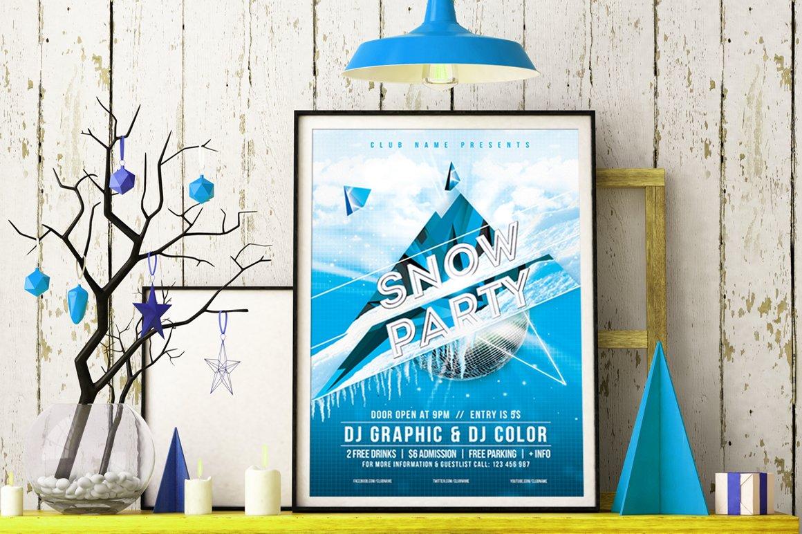 Snow Party Flyer Templates Creative Market