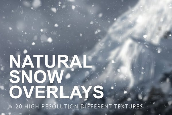 Natural Snow Overlays
