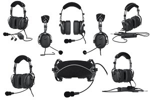 Headphones aviation set