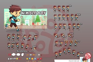 Nimble  Boy Game Sprites