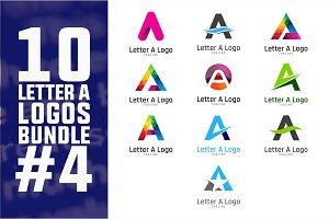 10 Initial Letter A Logo Bundle #4