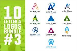 10 Initial Letter A Logo Bundle #3