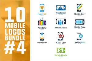 10 Mobile Logo Bundle #4