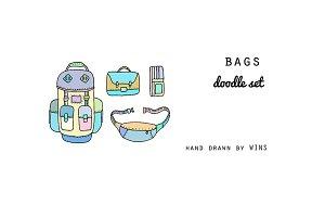 Bags. Doodle set