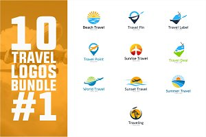 10 Travel Logo Bundle #1