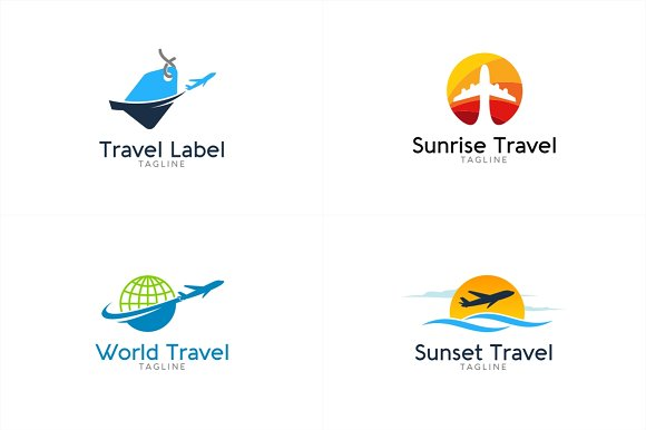 10 Travel Logo Bundle 1 Templates Creative Market