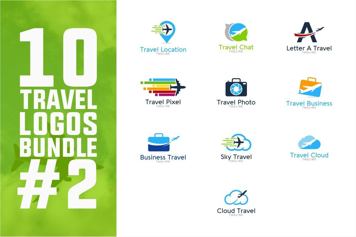 10 Travel Logo Bundle 2 Logo Templates Creative Market