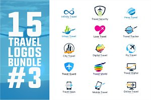 15 Travel Logo Bundle #3