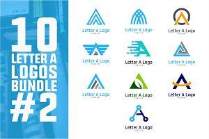 10 Initial Letter A Logo Bundle #2