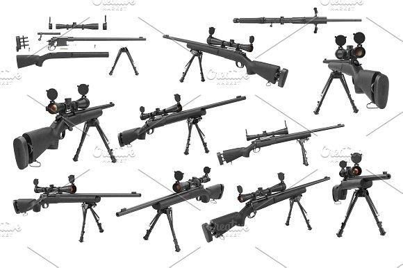 Rifle sniper set
