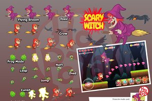 Scary Witch Game Sprites