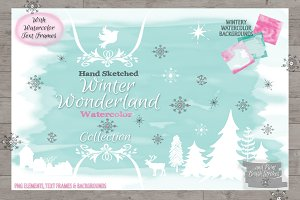 Hand-Sketched Winter Wonderland