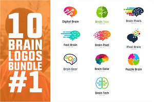 10 Brain Logo Bundle #1