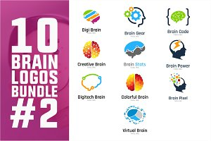 10 Brain Logo Bundle #2