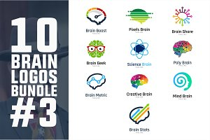 10 Brain Logo Bundle #3