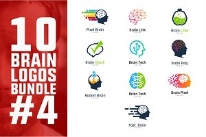 10 Brain Logo Bundle #4