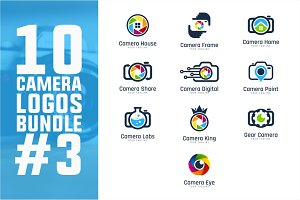 10 Camera Logo Bundle #3
