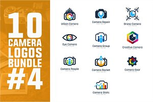 10 Camera Logo Bundle #4