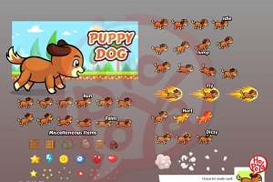 Puppy Dog Game Sprites