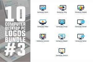 10 Computer PC Logo Bundle #3