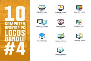10 Computer PC Logo Bundle #4
