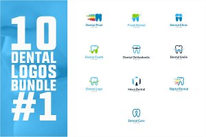 10 Dental Logo Bundle #1