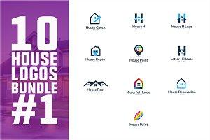 10 House Logo Bundle #1