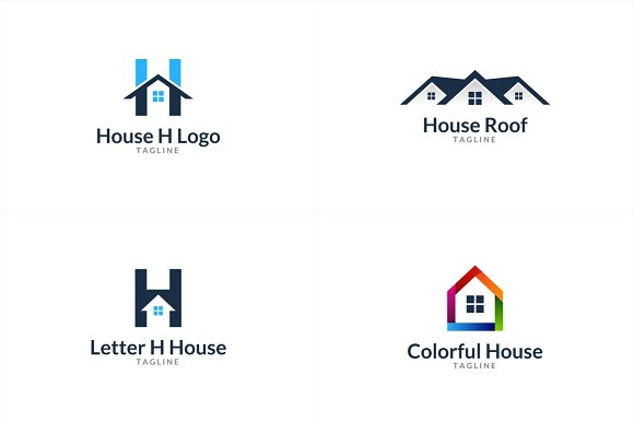 10 House Logo Bundle #1 in Logo Templates - product preview 1
