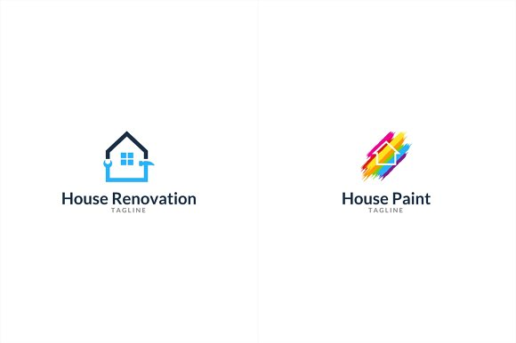 10 House Logo Bundle #1 in Logo Templates - product preview 3