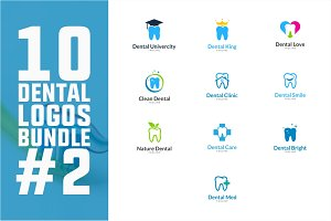 10 Dental Logo Bundle #2