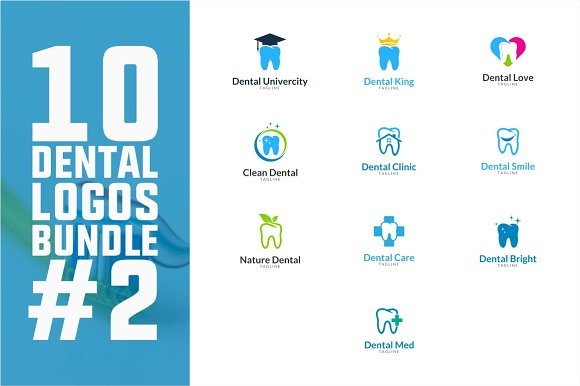 10 Dental Logo Bundle #2