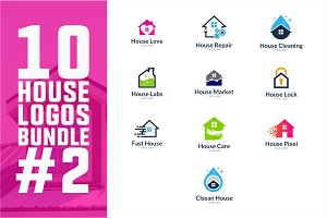 10 House Logo Bundle #2