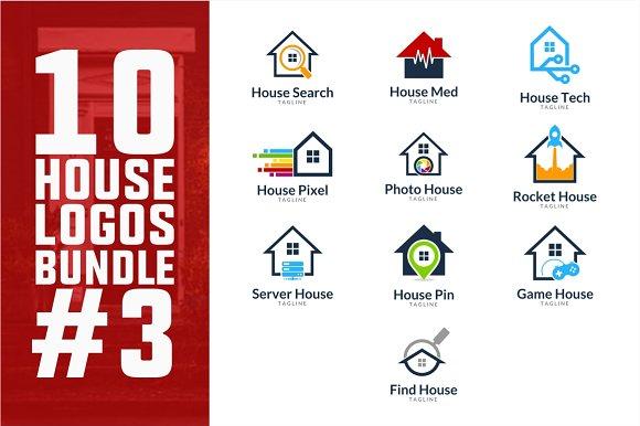 10 House Logo Bundle #3