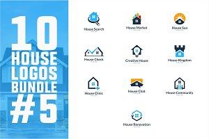 10 House Logo Bundle #5