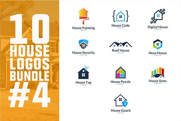 10 House Logo Bundle #4