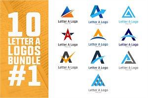 10 Initial Letter A Logo Bundle #1
