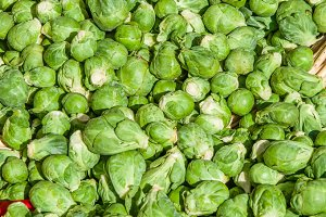 Basket of Brussel Sprouts