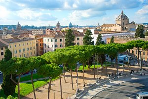 Skyline of Rome Downtown, Italy