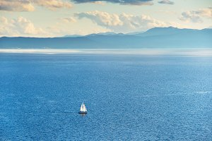 Yacht on the Ohrid lake, Macedonia