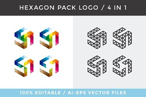 Hexagon Pack Logo / 4 in 1