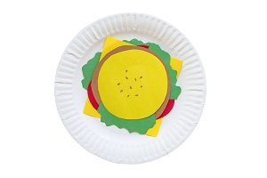 burger from a paper