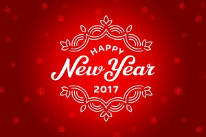 New year 2017 lettering cards