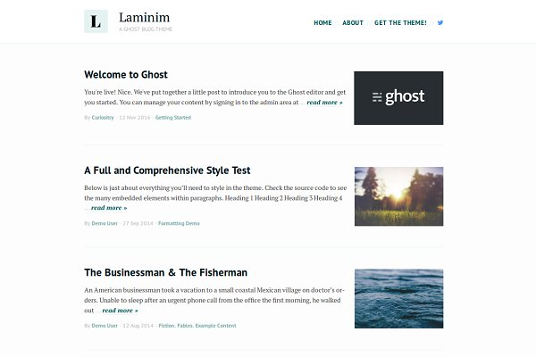 Ghost Themes: Curiositry - Laminim — Ghost Theme for Bloggers