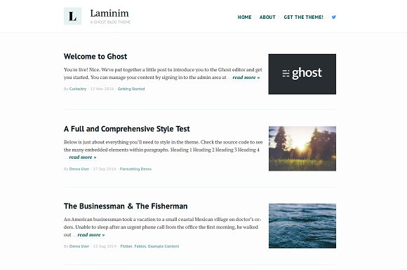Laminim — Ghost Theme for Bloggers