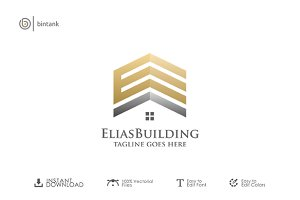 E Building - Real Estate Logo