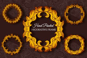 3 colors theme of decorative frames