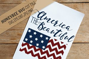 America The Beautiful Chevron Flag