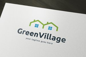 Green Home Logo Template