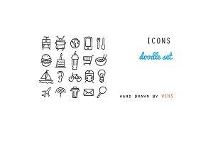 ICONS. Doodle set